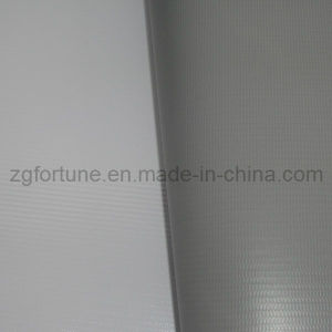 Blockout PVC Flex Banner White-Grey Back pictures & photos