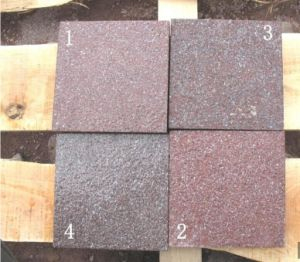 Porphyry Red Brown Granite Stone Cube pictures & photos