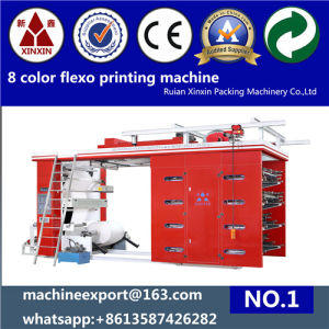 8+0 Back and Front Printed 8 Color Flexo Printing Machine pictures & photos