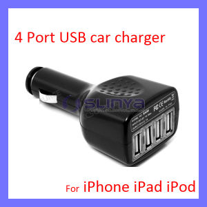 4 Connector 2A 1A 5V DC Lighter Tablet Pack Power Auto USB Charger for Samsung Note 3 Adapter pictures & photos