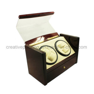 2017 New Design Luxury Dual Wooden Watch Winder for 4 Winding Watches with Ce Certificate pictures & photos