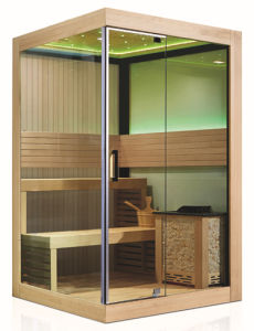 Transom Window Dry Steam Canadian Solid Red Cedar Sauna (M-6034) pictures & photos