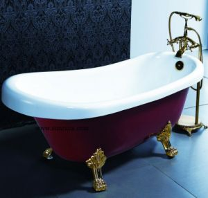 Fashionable Classical Small Portable Freestanding Bathtub for Oner Person (SR5J001) pictures & photos