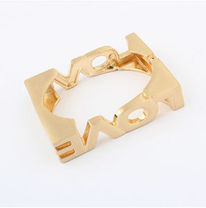 Fashion Zinc Alloy Square Love Bangle (SF532)