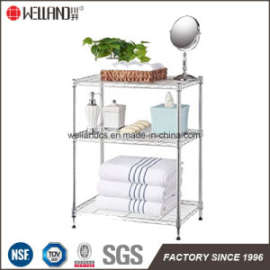 Supreme DIY 4 Layers Home Kitchen Storage Chrome Steel Wire Shelf Rack pictures & photos