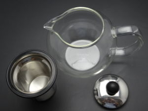 New High Quality 1000ml Stainless Steel Glass Modern Teapot Herbal + Removable Tea Leaf Infuser pictures & photos