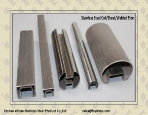 304 Square Slotted Welded Tubing for Handrail Glass pictures & photos