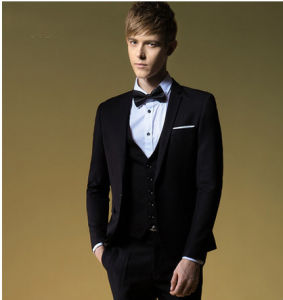 Men′s Balck Tuxedo Suit in New Fashion pictures & photos