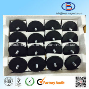 TPR/TPE/TPV Rubber Covering/Coating Permanent Neo Magnet Pot/Hook pictures & photos