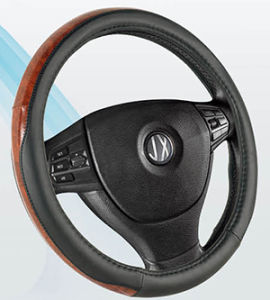 PVC with PU Steering Wheel Cover (BT7316B) pictures & photos