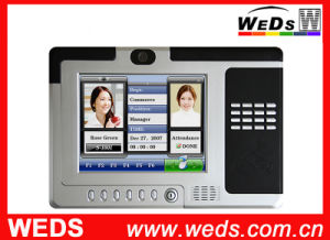 Electronic RFID Time Attendance Machine with 8′′ LCD