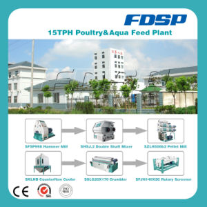Excellent Performance 15tph Animal Feed Production Line pictures & photos