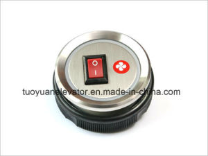 Xizi/Otis Push Button in Fan Sign for Elevator Parts (TY-PB022) pictures & photos