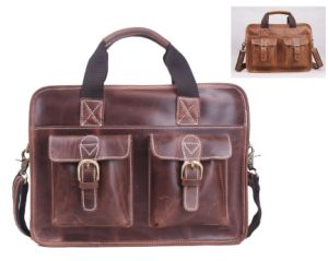 Genuine Leather Handbag Crazy Horse Leather Tote Bag for Men pictures & photos