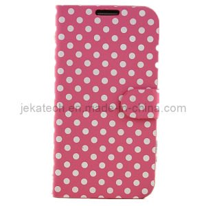 Polka DOT PU Wallet Case for Samsung Galaxy S5 pictures & photos