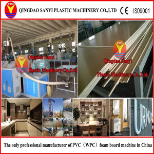WPC Construction Board Production Line/Plastic Board Machine pictures & photos