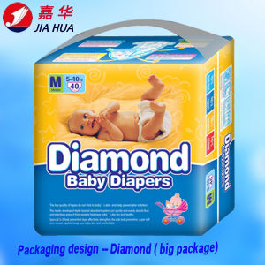 PE Film Baby Diaper Cheap Diaper with PP Tapes pictures & photos