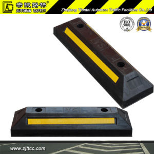 Reflective Recycled Rubber Car Parking Wheel Safety Stopper (CC-D13) pictures & photos