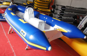 13.8FT 4.2m Canto Hypalon or PVC Inflatable Fiberglassboat Rib 420A with Ce Cert. in Hot Sale pictures & photos