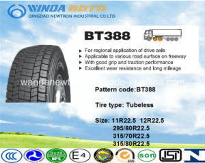 Boto Heavy Duty Cheap Truck Tyre, High Quality TBR Bus Tire, All Steel Radial Truck Tire Bt388 315/80r22.5 pictures & photos