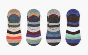 Lattest Fashion Strip Cotton Boat Women Sock pictures & photos