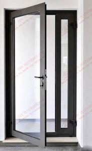 Cost-Efficient Aluminium. Single Door with Sidelight (BHA-DC13) pictures & photos
