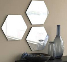 Top Quality Clear Silver Mirror Glass Shaped Mirror Tile pictures & photos