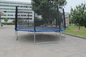 14ft Round Trampoline with Safe Net and Ladder Sx-Ft (E)