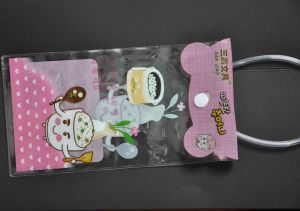 Clear PVC Bag with Button Closure/Colorful PVC Packing Bag pictures & photos