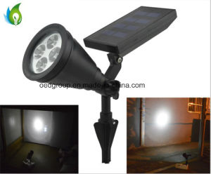 Hot Sale China Supplier Solar High Power 0.8W 4PCS LED Plastic Spotlight Garden Outdoor LED Light pictures & photos