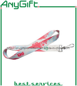 Heat Transfer Printed Woven Lanyard with Customized Logo (LAG-LY-21) pictures & photos
