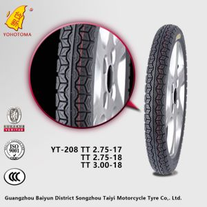 Cheap Price China Motorcycle Tyre YT-208 TT 3.00-18 pictures & photos