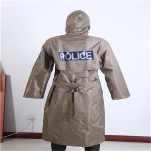 Long Waterproof Police Raincoat OEM Welcome pictures & photos
