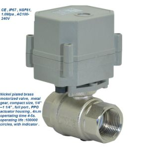 Tonhe 2 Way Ss316 Electric Actuator Water Ball Valve pictures & photos