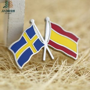Wholesale High Polished Hard Enamel Cross Flag Lapel Pin pictures & photos