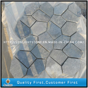 Black Slate Mesh Stone Paver Tile, Flag Stone Paver pictures & photos