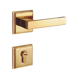 Gold Polished Finish Brass Door Lock for Room and Corridor pictures & photos