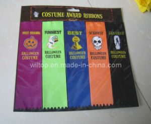 Assorted Halloween Satin Award Ribbons (PM094) pictures & photos