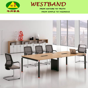 2015 New Design Modern Aluminium Alloy Wooden Conference Table (WB-Chris)