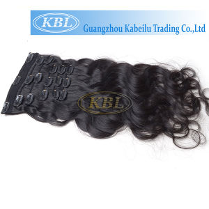 Body Wave Clip-in Hair, Brazilian Human Hair pictures & photos