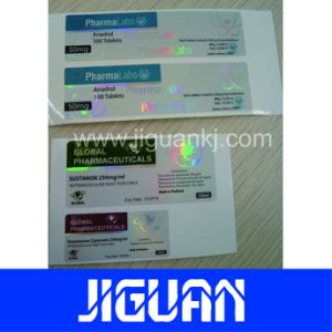 Full Color Printing Round Silver Foil Pet Label pictures & photos