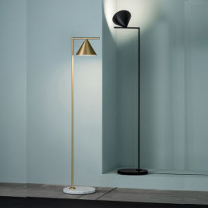 Post Modern Home/Hotel Bedroom Floor Lamp Standing Lamp Light with Shade, Brush Bronze Plated pictures & photos