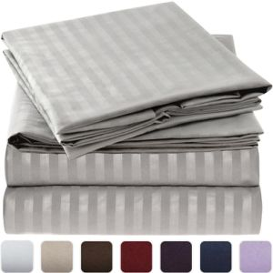 Deluxe 1800 Series Brushed Microfiber Sheet Set for Home Bedding pictures & photos