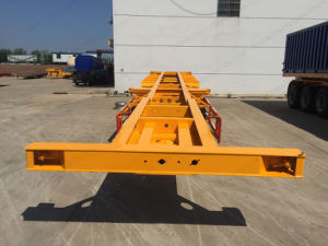 New Condition 50t Sinotruk HOWO Skeleton Semi-Trailer Container Trailer pictures & photos