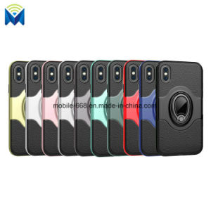 Armor PC TPU Hybrid Back Cover Case with Rotating Ring Holder Kickstand for Apple iPhone X pictures & photos
