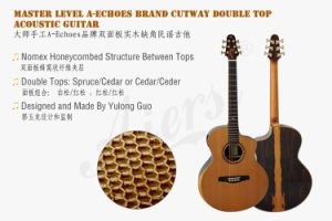 Master Yulong Guo Nomex Double Top All Solid Acoustic Guitar pictures & photos