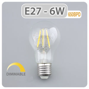 360 Degree Beam Angle LED Edison Bulb 6W A19 LED Bulb Ce pictures & photos