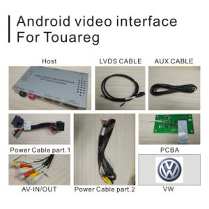Android GPS Navigation System Box for Volkswagen Touareg RCD550 Video Interface pictures & photos