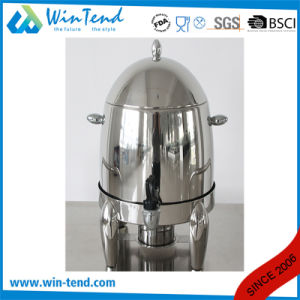 Commercial Hotel Restaurant Stainless Steel Portable Manual Tea Urn with Stand Base pictures & photos