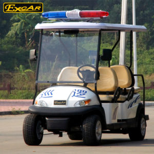Patrol Car Electric Golf Car for 4 Seater pictures & photos